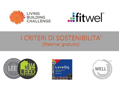Webinar gratuito: i criteri di sostenibilità