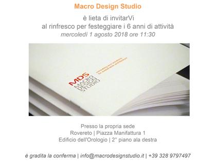 Macro Design Studio compie 6 anni