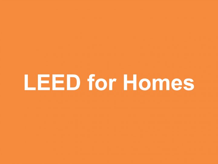 Formazione: LEED for Homes