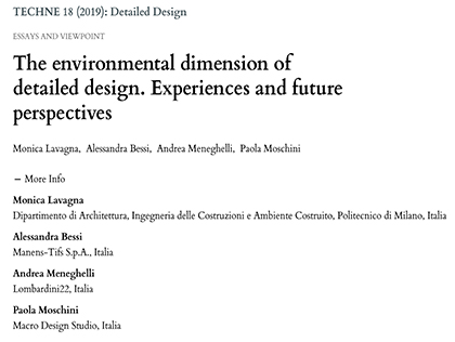 The environmental dimension of detailed design. Experiences and future perspectives